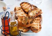 Pila de pan tostado — Foto de Stock