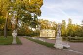 Pavilion in Catherine park in Tsarskoe Selo near Saint Petersburg — Stock Photo