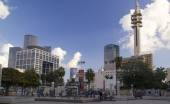 Modern Buildings view From Museum of Art Square on King Saul Ave — Stock Photo