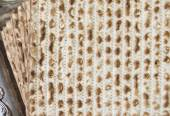 Texture of jewish passover matzah (unleavened bread) — Stock Photo