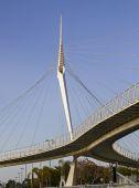 Skywalk Bridge By Santiago Calatrava.Israel — Stock Photo
