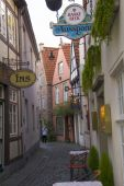 Old town of Hanseatic city Bremen,Germany — Stock Photo
