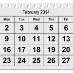 Calendar February 2015 — Stock Photo #63067069