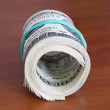 Stack of money dollars — Stock Photo #65169249