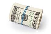 Stack of money dollars — Stock Photo