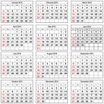 Calendar 2015 — Stock Photo #65204029