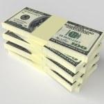 Money concept - many dollars banknotes — Stock Photo #71547455