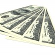 Money concept - several dollars banknotes — Stock Photo #72627081