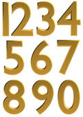 Gold 3d modern number font — Stock Photo
