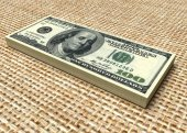 Geld stack. dollar — Stockfoto