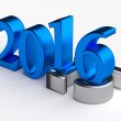3d numbers. 2016 new year over 2015 — Stock Photo #80571896