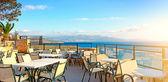 Cafes. Seascape. Greece — Stock Photo