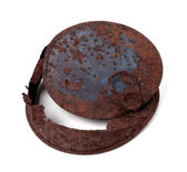 Old rusty tin can — Stock Photo