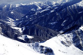 Top view on off-piste slope — Stock Photo