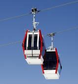 Two gondola lifts close-up view — Stock Photo