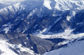 Top view from off-piste slope — Stock Photo