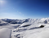 Ski resort at sun day — Stock Photo