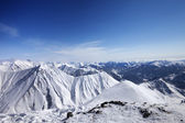 Winter snowy mountains. Panoramic view — Stock Photo