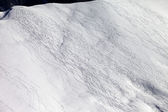 Top view on off piste slope — Stock Photo