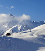 Hotel on ski resort at evening — Foto Stock