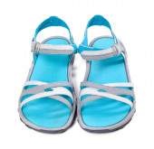 Pair of summer sandals. Front view. — Stock Photo