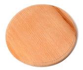 Round wooden kitchen board — Stock Photo