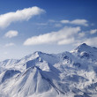 Snowy winter mountains in sun day. Panoramic view. — Stock Photo #62546335