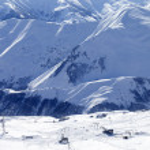 Top view on ski slope — Stock Photo #62709483