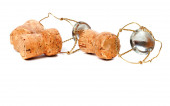 Champagne wine corks and muselets — Stock Photo