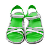 Pair of summer sandals. Front view.  — Foto Stock