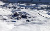 Top view on ski resort — Stock Photo