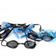 Wet goggles for swimming on white background — Stock Photo #70408801