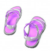 Summer sandals.Top view. — Stock Photo