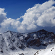 Mountains in snow. Panoramic view. — Stock Photo #78553590