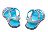 Summer sandals on white background — Stock Photo
