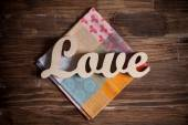 Wooden letters with word love — Foto Stock