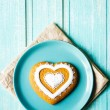 Valentine cookie heart — Stock Photo #62987285