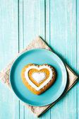 Valentine cookie heart — Stock Photo