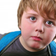 Closeup portrait of cute blond kid — Stock Photo #55147693