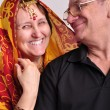 Indian senior couple looking at each other — Stock Photo #68790705