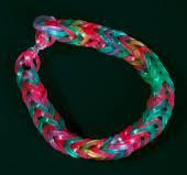 Rainbow colors rubber bands loom bracelet — Stock Photo
