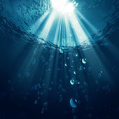Deep blue ocean — Stock Photo
