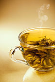 Cup of  green japanese tea — Stock Photo