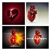 Set of health and medical backgrounds — Stock Photo