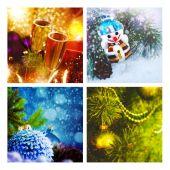 Sada vánoční pozadí — Stock fotografie