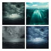 Set of marine backgrounds — Stock Photo