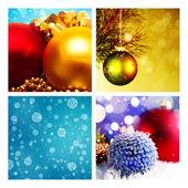 圣诞背景一套 — 图库照片