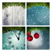 Set of assorted christmas backgrounds — Foto Stock