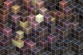 Abstract cubic background — Stock Photo