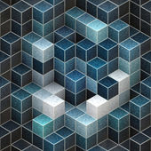 Abstract cubic background — Foto Stock